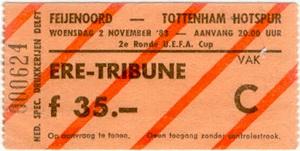 Ere-tribune kaartje voor Feijenoord - Tottenham Hotspur