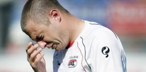 Spits Danny Koevermans na het missen van de landstitel